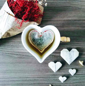 Red Heart Shaped Tea Bags, Tea Bags, Brin d'Arômes