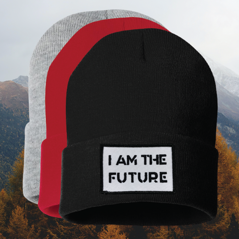 I AM THE FUTURE cuff beanie