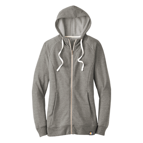 signature full-zip ladies' triblend terry hoodie