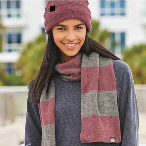 signature knit scarf - rugby stripe