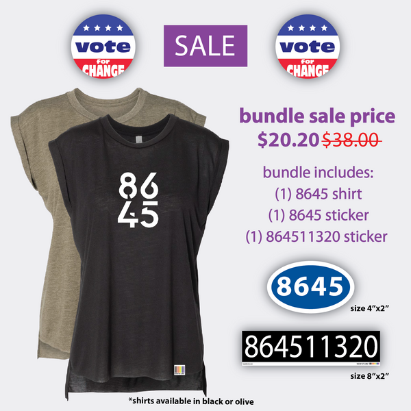 8645 bundle sale (tee + two stickers)