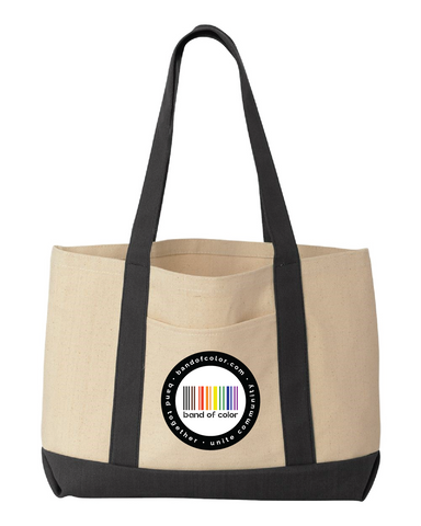 band of color large carryall tote bag