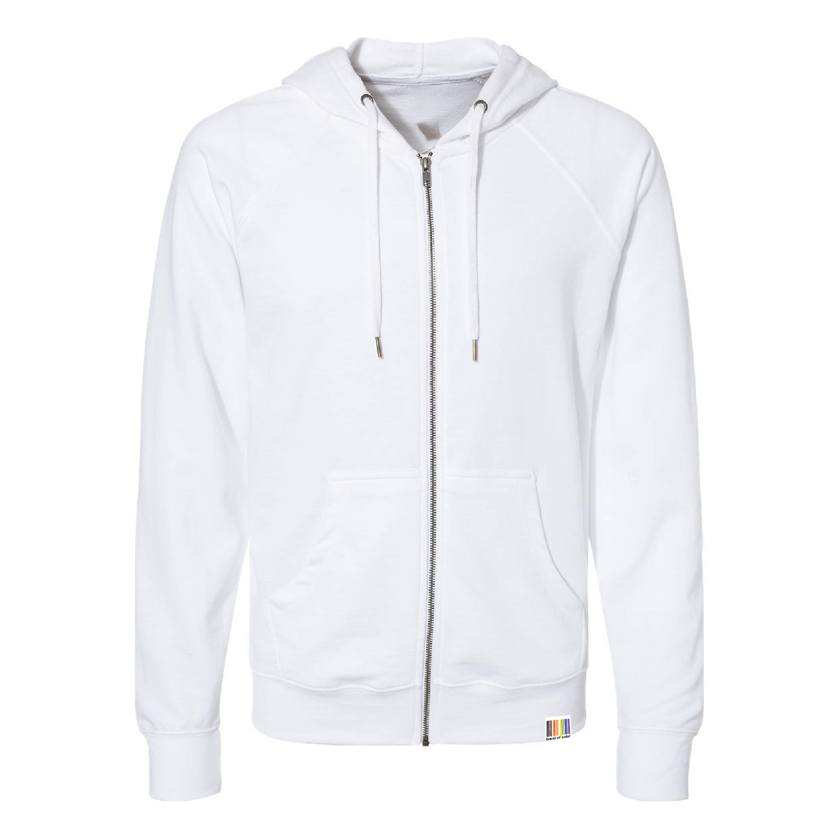 signature unisex full-zip lightweight terry hoodie
