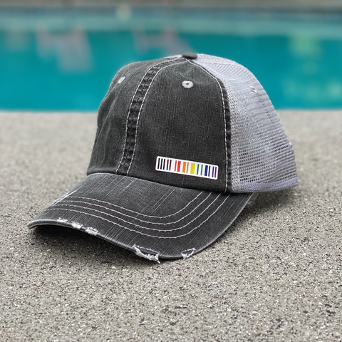 herringbone trucker hat