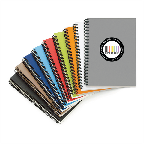 band of color coil-bound notebooks