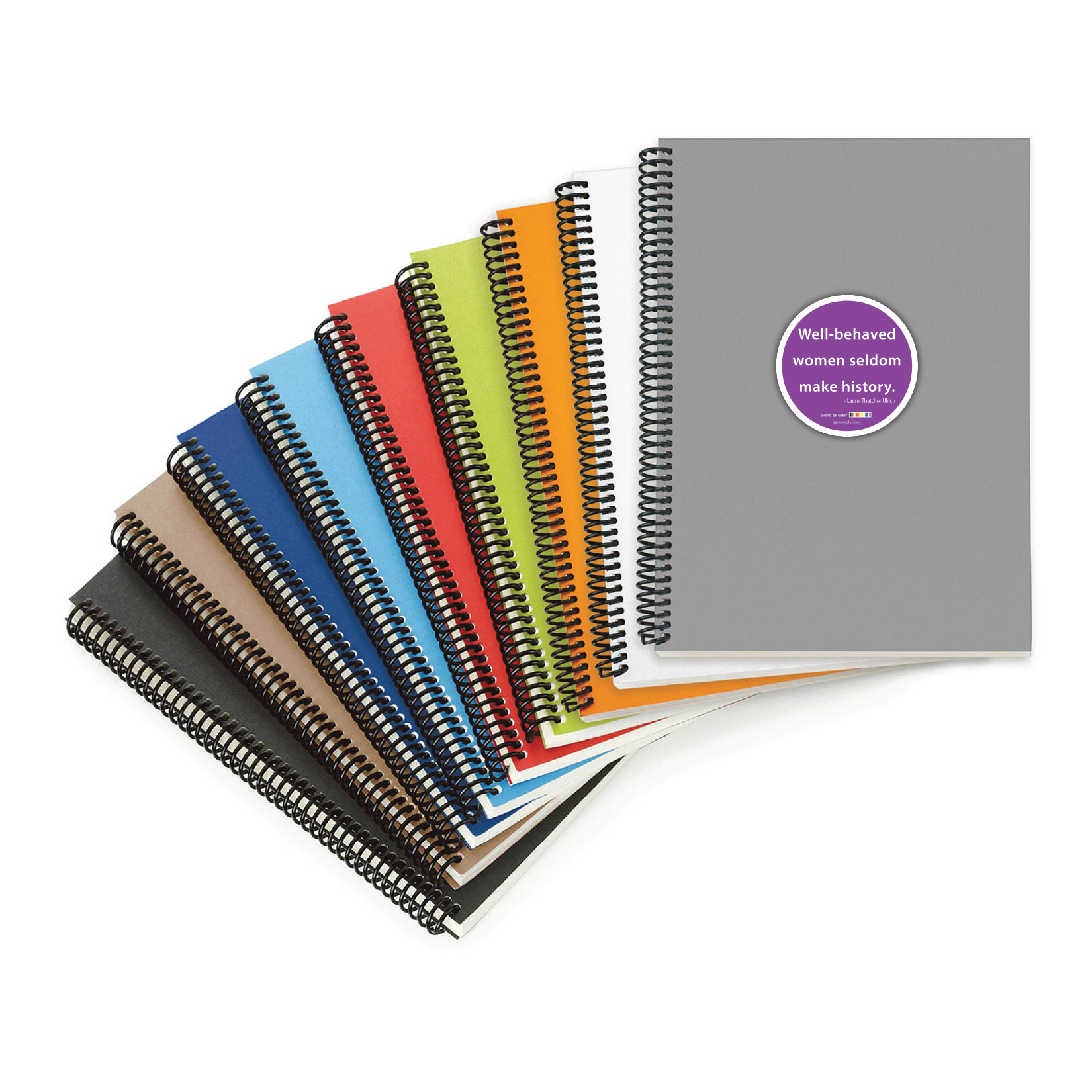 well-behaved women coil-bound notebooks
