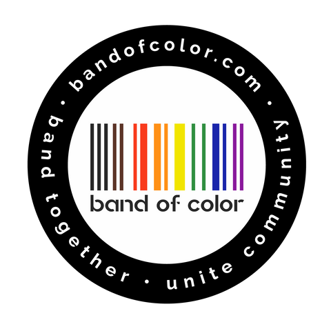 band of color logo sticker
