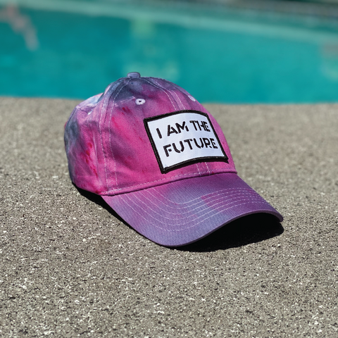 I AM THE FUTURE youth tie-dyed hat