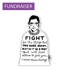 Ruth Bader Ginsburg FIGHT sticker