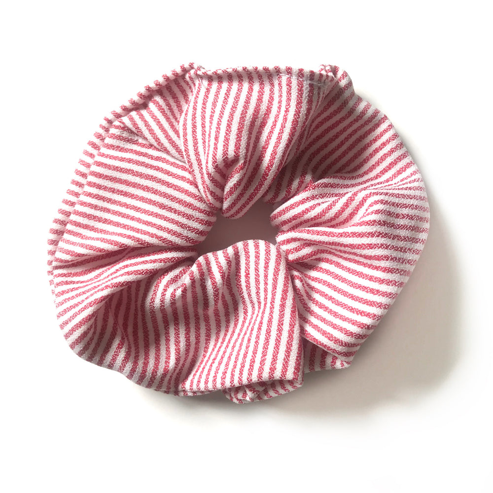 Candycane Red - Linen Scrunchie