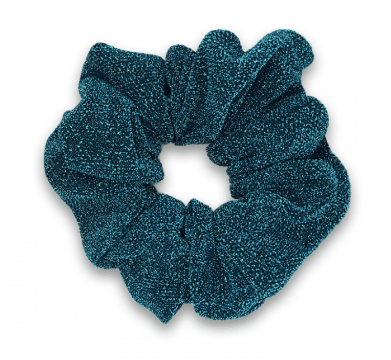 Teal Blue - Glitter Scrunchie