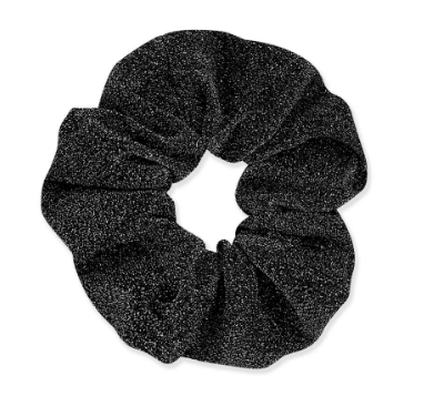 Black - Glitter Scrunchie