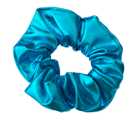 Blue - Metallic Scrunchie