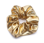 Gold - Faux Leather Scrunchie