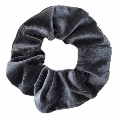 Grey - Velvet Scrunchie