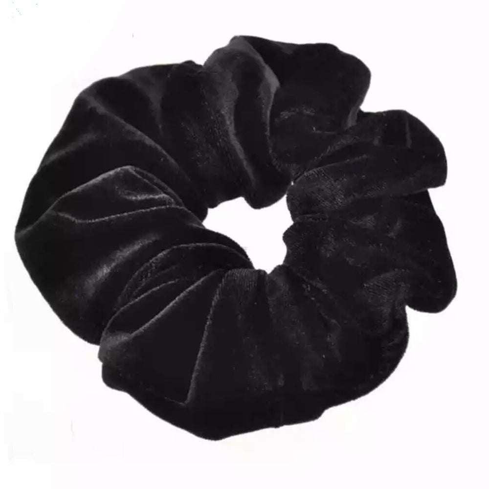 Black - Velvet Scrunchie