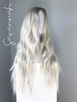 """Savannah"" - Long Ash Blonde Body Wave Synthetic Wig"