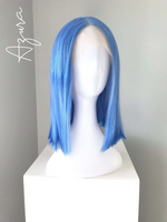 """Azura"" - Short Blue Straight Bob Lace Front Wig"