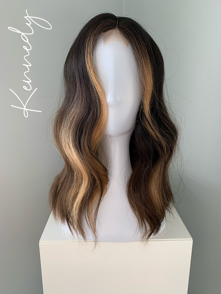 """Kennedy"" - Brown Money Piece Lace Front Wig"