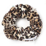 Leopard Velvet - Secret Zipper Scrunchie