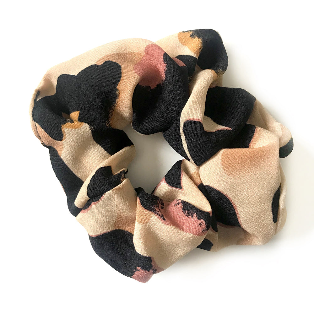 Brown - Animal Print Scrunchie