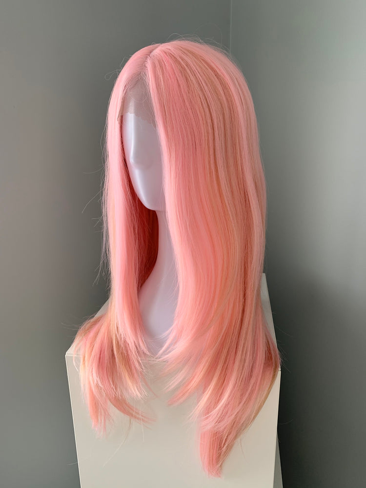 """Claire"" - Baby Pink Synthetic Lace Front Wig"