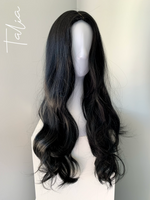 """Talia"" - Long Black Synthetic Wig"