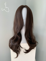 """Eva"" - Dark Brown Curled Synthetic Wig"