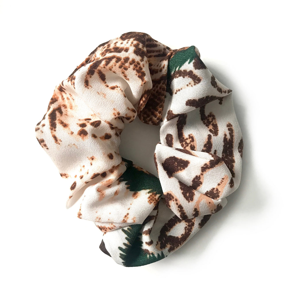 Green - Animal Print Scrunchie
