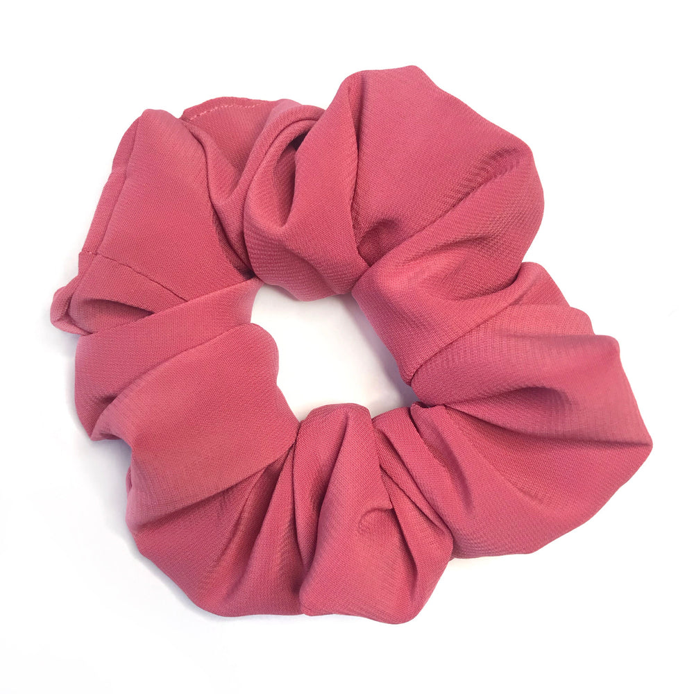 Dusty Rose Pink - Chiffon Scrunchie