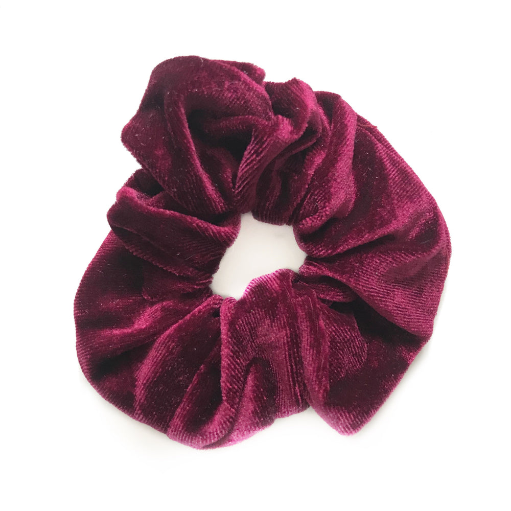 Burgundy - Velvet Scrunchie