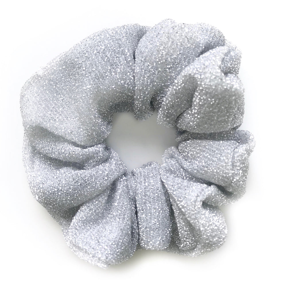 Silver Grey - Glitter Scrunchie
