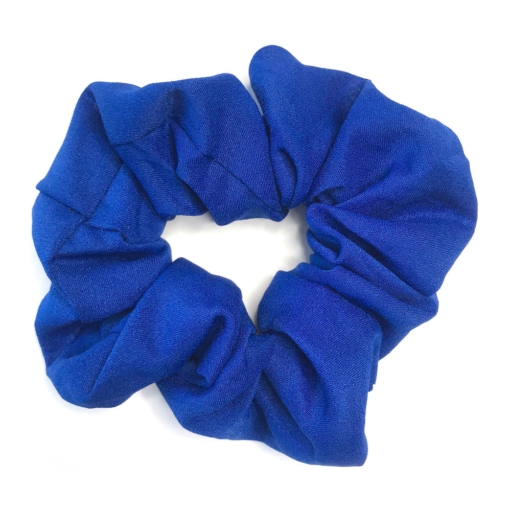 Royal Blue - Chiffon Scrunchie