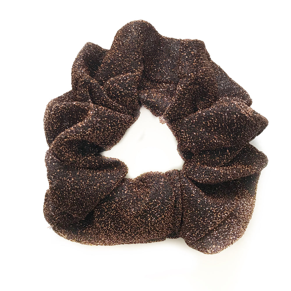 Bronze Brown - Glitter Scrunchie
