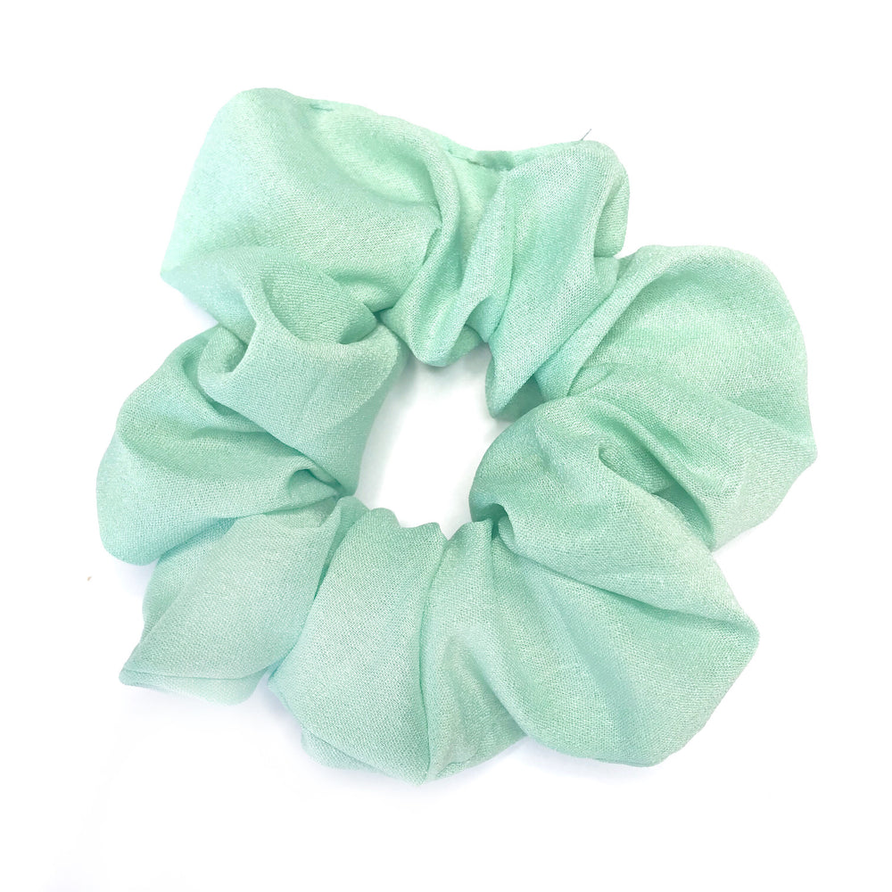 Mint Green - Chiffon Scrunchie
