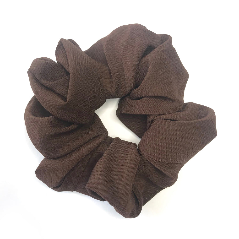 Chocolate Brown - Chiffon Scrunchie