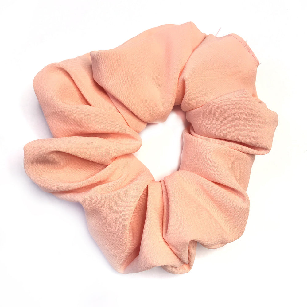 Peach Orange - Chiffon Scrunchie
