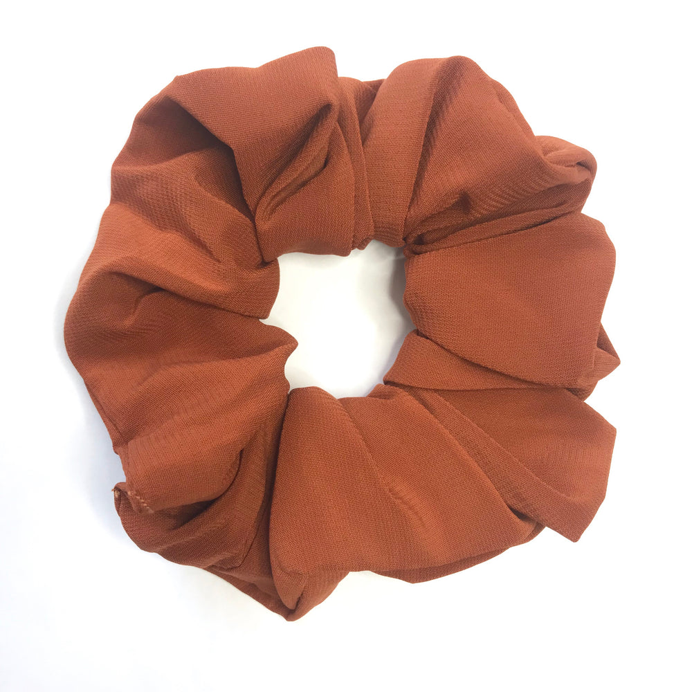 Rust Brown - Chiffon Scrunchie