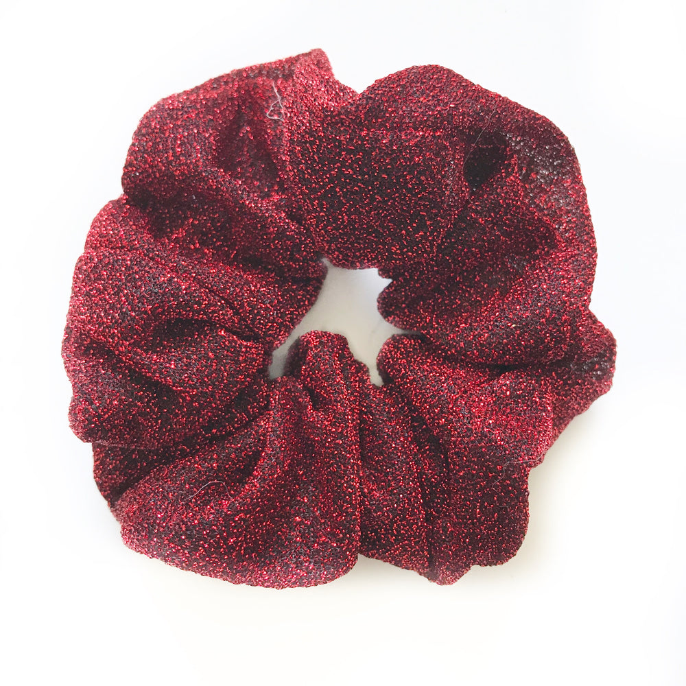 Red - Glitter Scrunchie