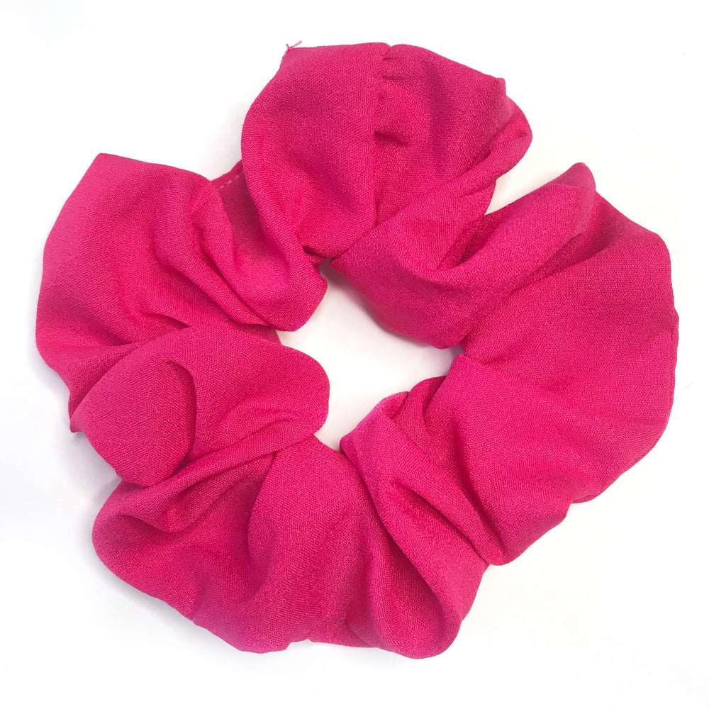 Hot Pink - Chiffon Scrunchie
