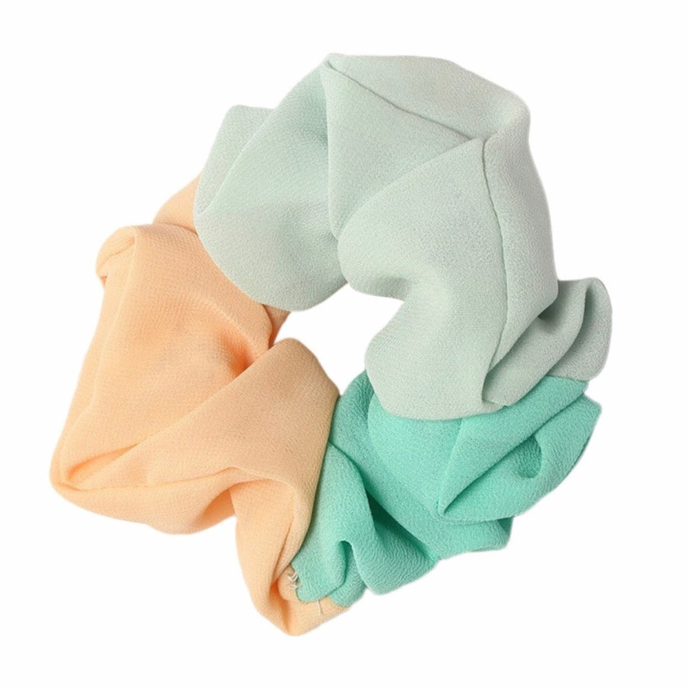 Green - Pastel Trio Scrunchie