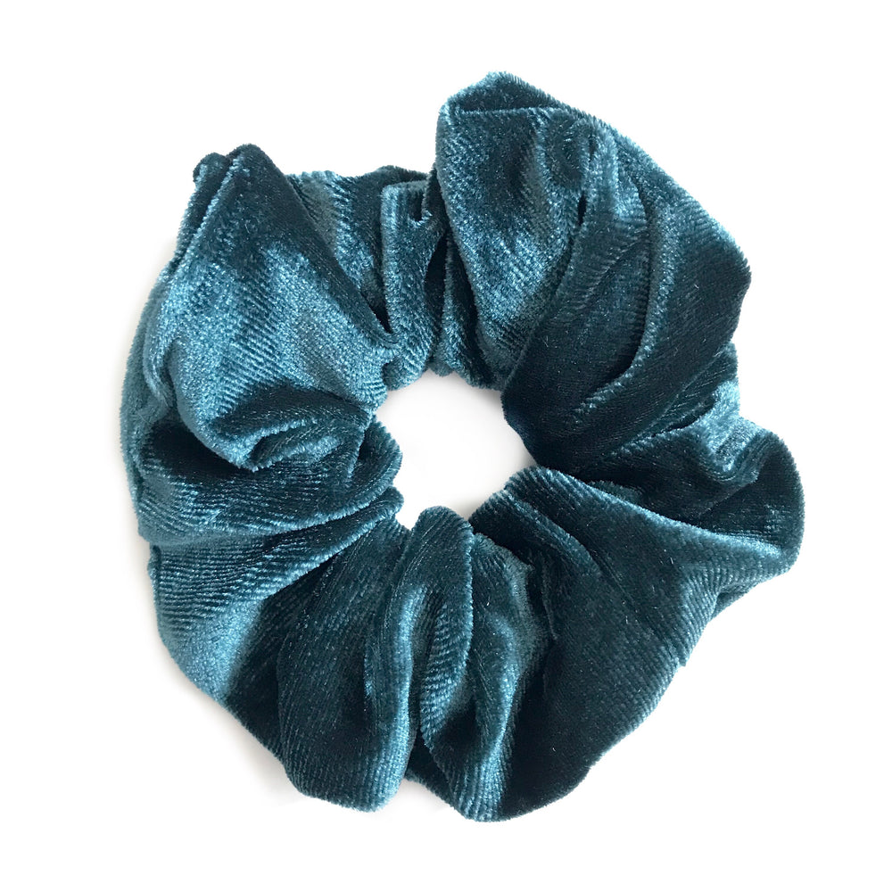 Teal Blue - Velvet Scrunchie