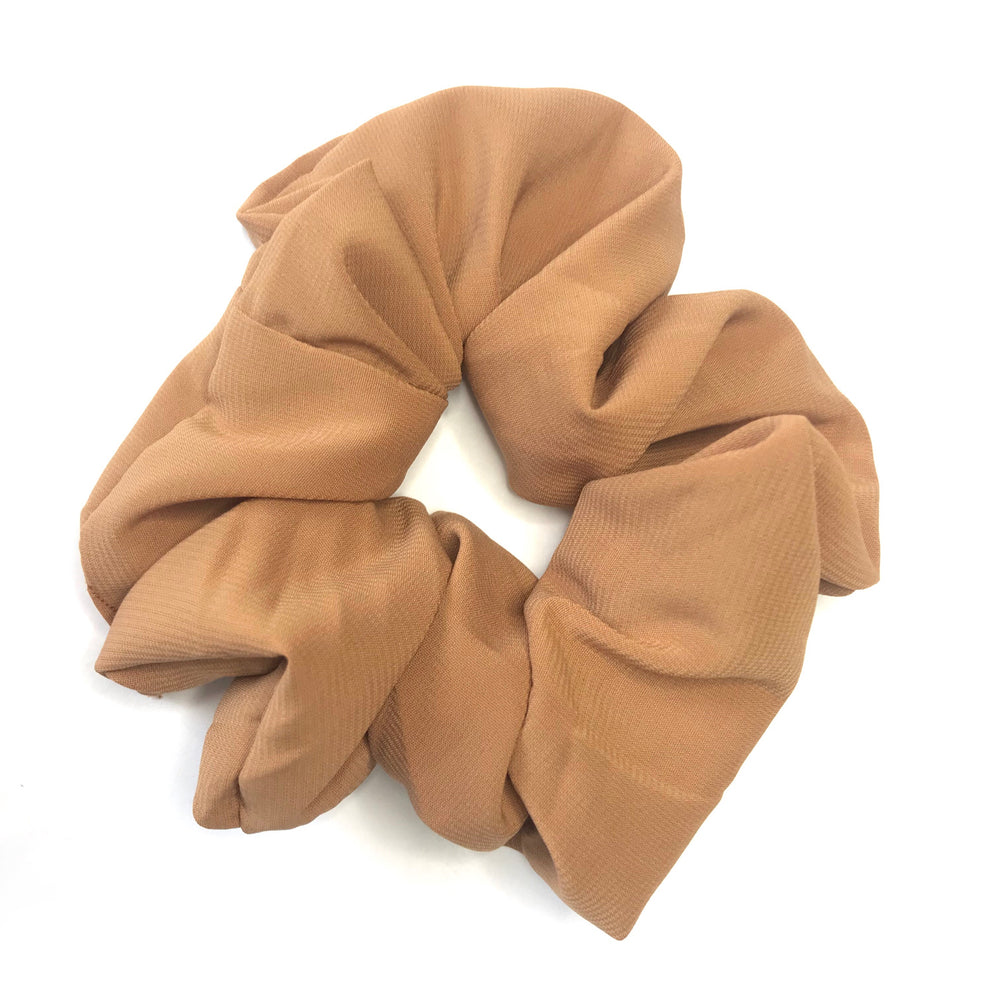 Tan Brown - Chiffon Scrunchie