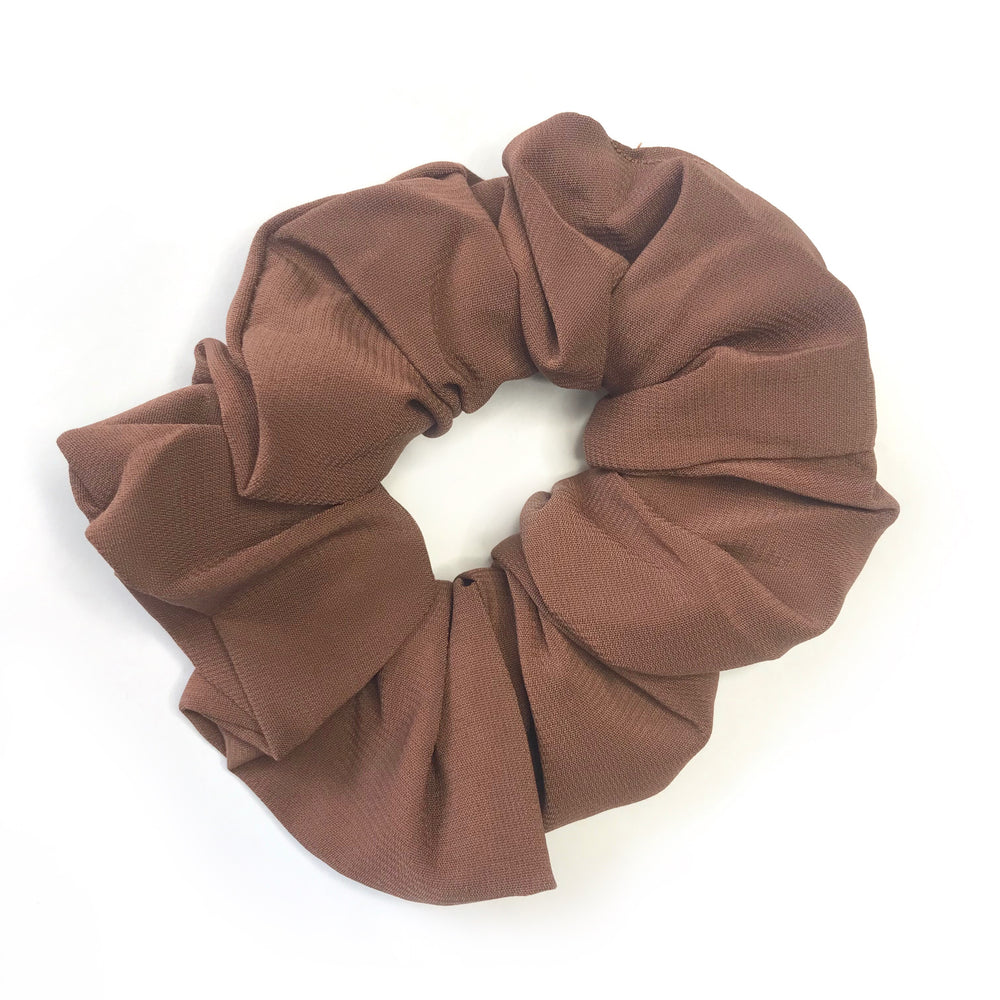 Mocha Brown - Chiffon Scrunchie