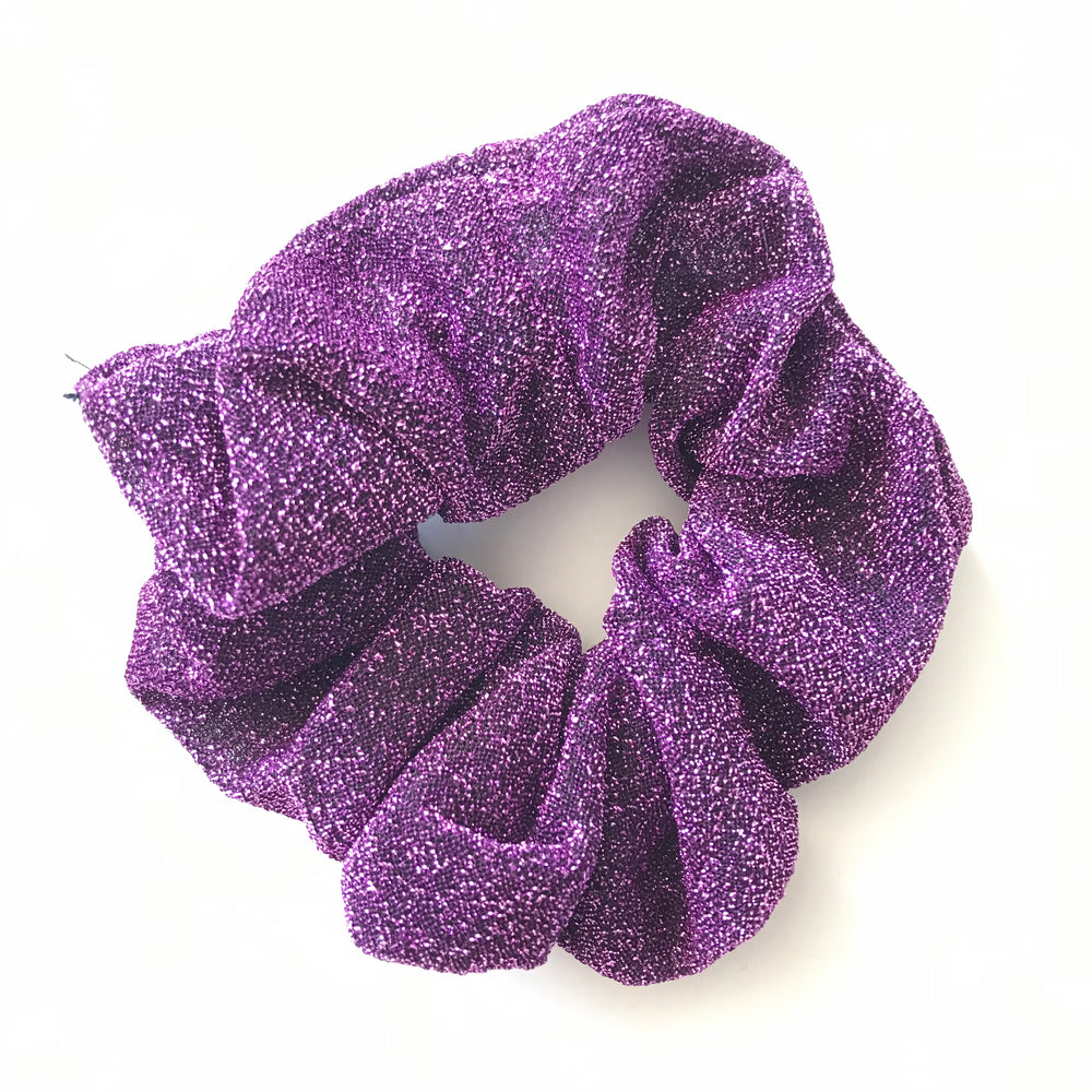Lavender Purple - Glitter Scrunchie