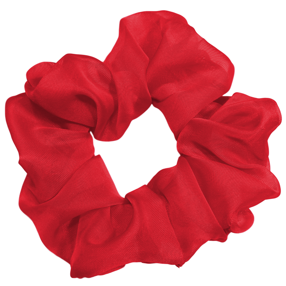 Red - Chiffon Scrunchie