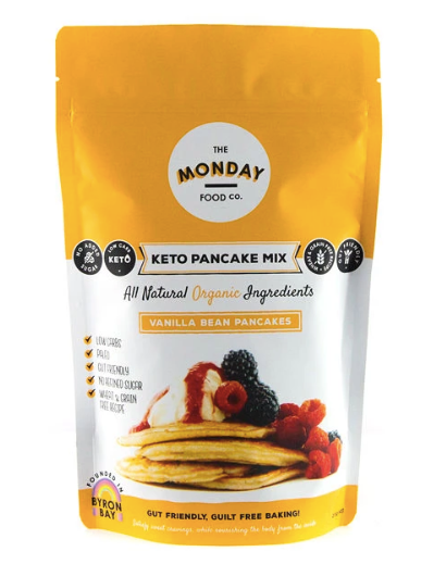 Keto Organic Vanilla Bean Pancake Mix 215g by The Monday Food Co.