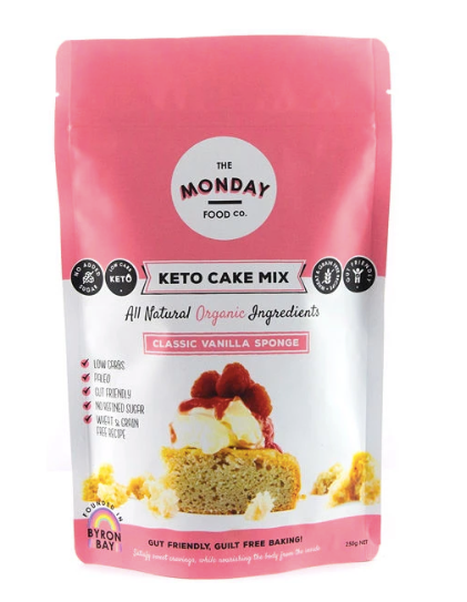 Keto Classic Vanilla Sponge Organic Cake Mix 250g by The Monday Food Co.