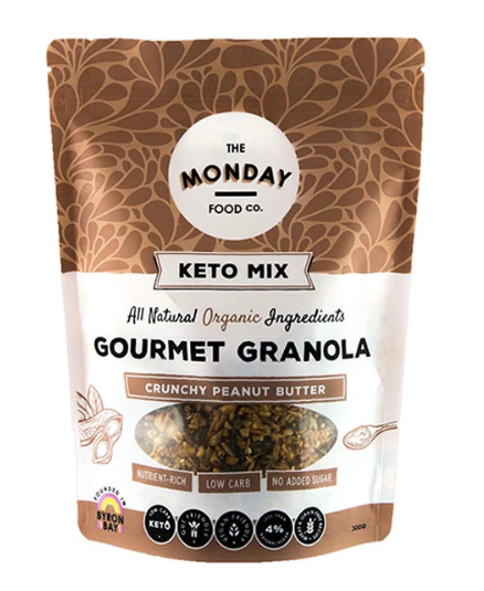 Organic Keto Granola - Crunchy Peanut Butter (I'm Vegan) 300g by The Monday Food Co.