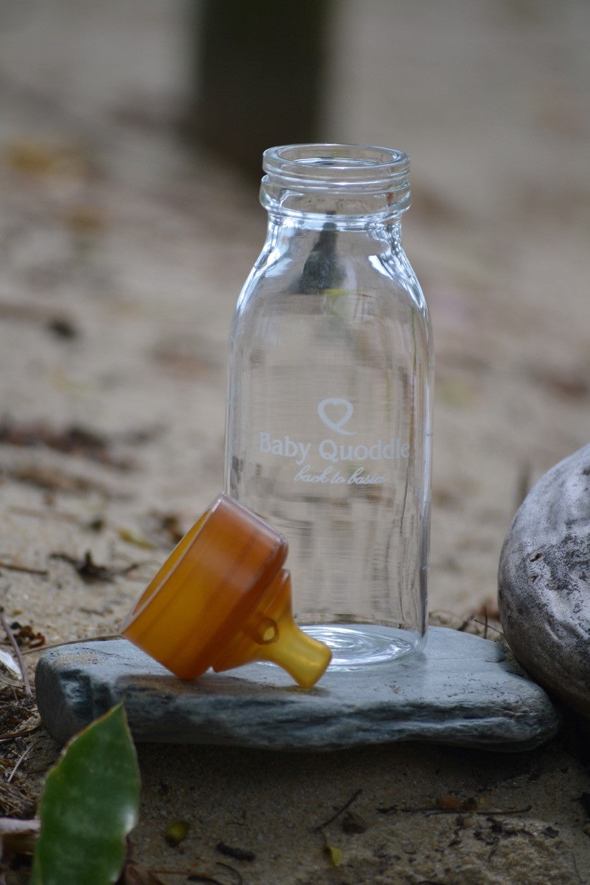 Quoddle Glass Baby Bottle - Luna and Beau